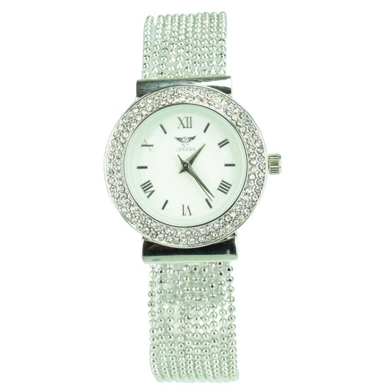 Ny London Women S Crystal Bezel Metal Watch Pi 7473 Assorted